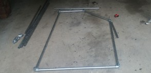 Side frame of soccer goal