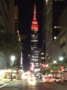 NYC Crimson Empire State Building.
