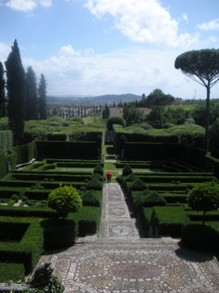 At a villa outside of Florence, Italy.