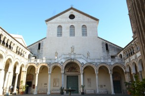 The exterior of the Duomo of Salerno.