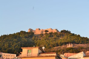 The Arechi Castle is easy to spot up in the hills above Salerno.