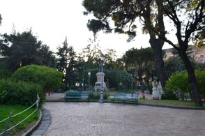 Salerno is a beautifully clean and safe city to visit. The public gardens are just one example of the city's charm.