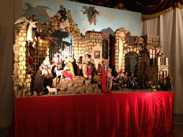 Every church has its own creche, some fancy, some simple.