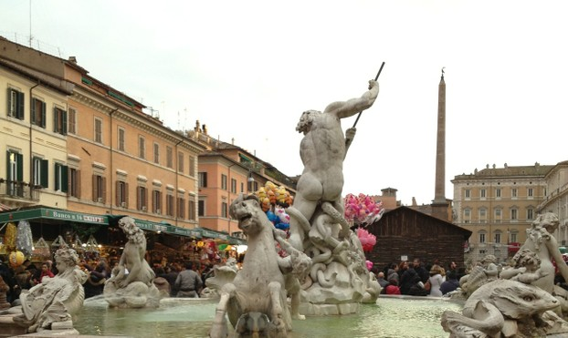 Piazza Navona during the holiday season.