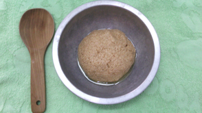Dough Ball in Metal Bowl