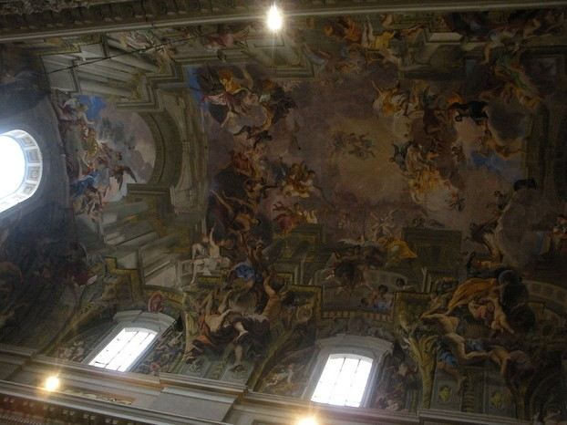 Frescoes on a church ceiling