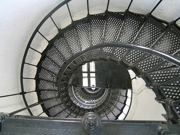 Spiral Staircase in the Saint Augustine Lighthouse - looking down