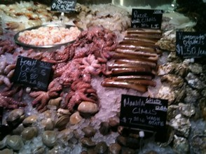 Fresh seafood selections daily picked from the Fulton Fish Market
