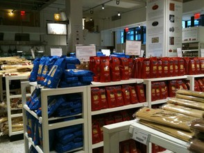 Endless rows of dried pasta