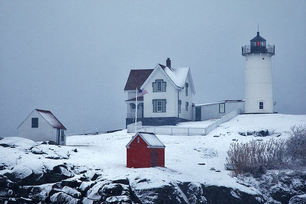 The Nubble in Winter