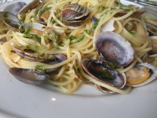 Spaghetti with White Clam Sauce.