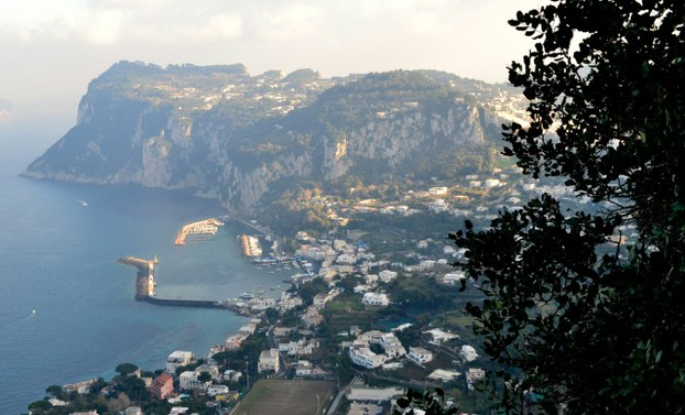 A view of the harbor of Capri from Villa San Michele