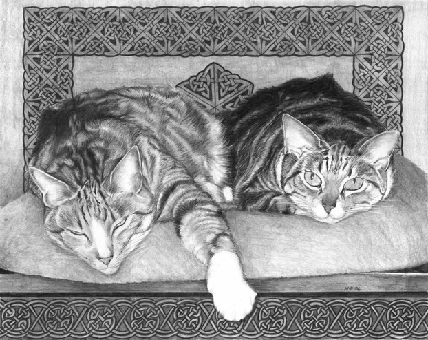 """Kinship"" - Cat Portrait by Nicole Pellegrini"