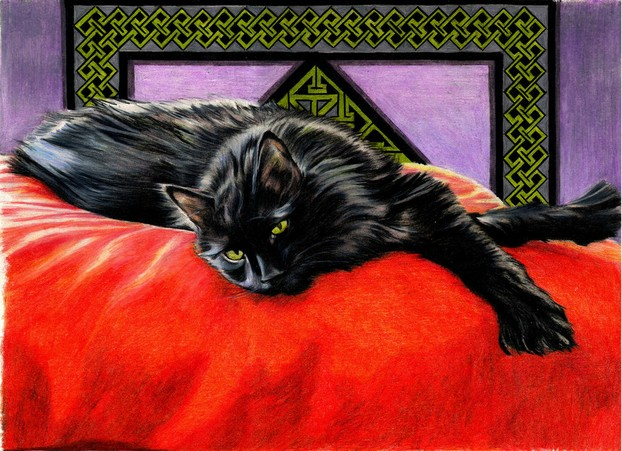 """Companion"" - Pet portrait by Nicole Pellegrini"