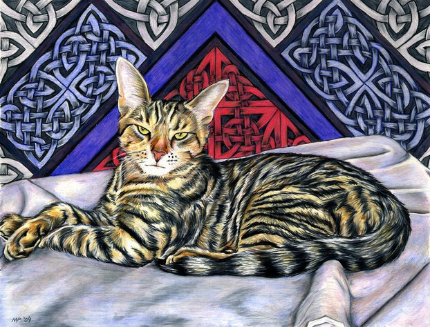 """The Young Prince"" - Pet portrait by Nicole Pellegrini"