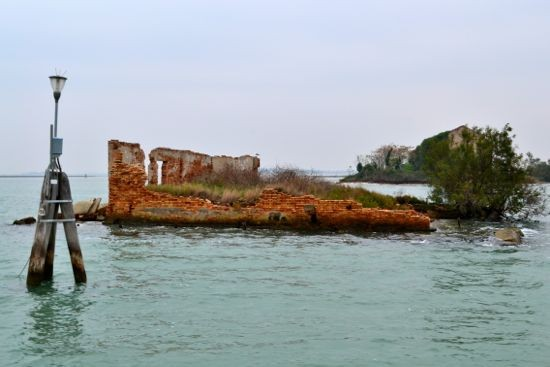 Enter the Northern lagoon and pass the ruins of old, abandoned monasteries, homes and colonies.