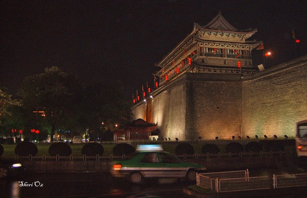 Old City Gate at Night, Xi'an, China