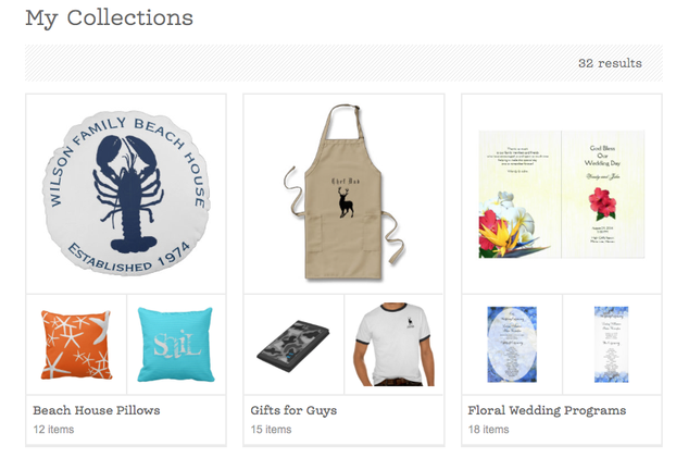My Zazzle Collections Page