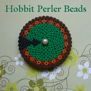 Hama, Perler and Fused Bead Craft Projects with a Hobbit Theme for Fans of the Book and Movies