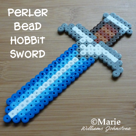 The Hobbit Sword Called Sting Worked in Fused Beads