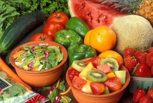 It's good to get plenty of fruits and vegetables in your diet for a strong, healthy body.