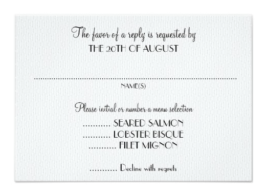 Wedding Reply Card Wording Ideas