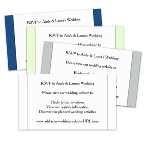 Wedding Website Reply Cards