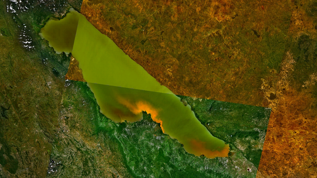 Lake Rukwa, in Tanzania, as seen from space