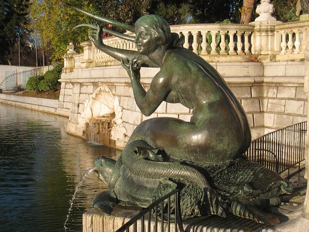 Mermaid Statue in Madrid, Spain
