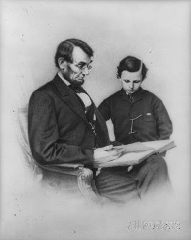Abraham Lincoln (Reading with Son Tad)