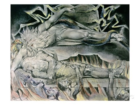 Job's Evil Dreams from The Book of Job  By: William Blake