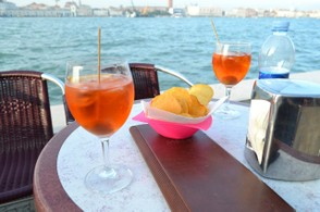 Nothing beats enjoying a classic Spritz cocktail while sitting along the water in Venice