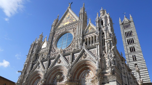 The stunning Duomo of Siena, one of the city's major attractions.