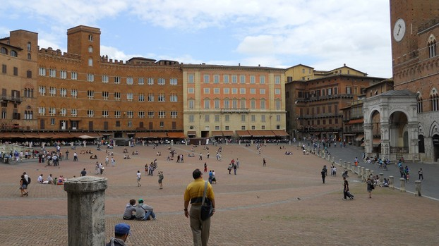 The historic Piazza del Campo of Siena.