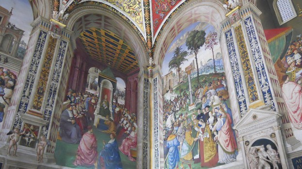 The incredible frescos by Pinturicchio in the Duomo di Siena are a must-see!