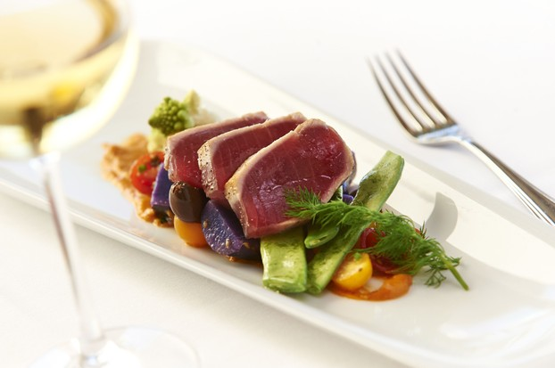 Rare-Seared Tuna with 'Niagara' Nicoise