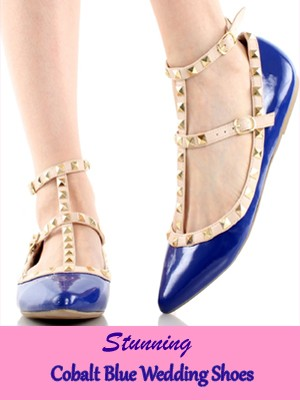 Look Stunning in These Cobalt Blue Wedding Shoes