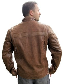 Leather Jacket Back View