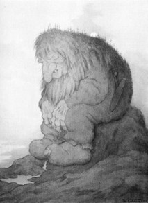 Drawing of Troll by Theodor Kittelsen