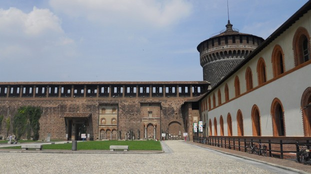 Castello Sforzesco: Interior Courtyard