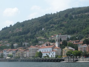 Taking the ferry boat up Lake Maggiore is a wonderful experience as you cruise by charming villages and old fortresses