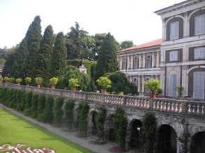 The magnificent palazzo and gardens of Isola Bella.