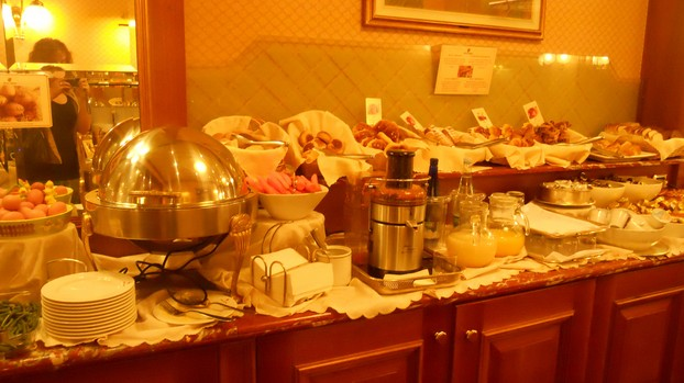 A small glimpse of the outrageous breakfast buffet at the Hotel Berna.