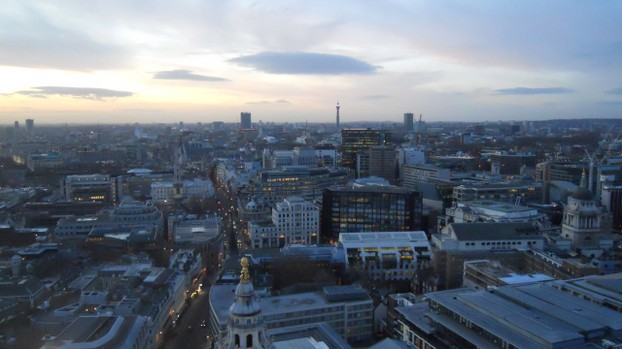 View of the London skyline from St. Paul's Cathedral