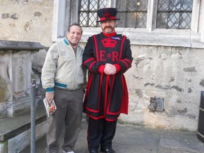 The Beefeater Guards of the Tower will gladly pose for photographs.