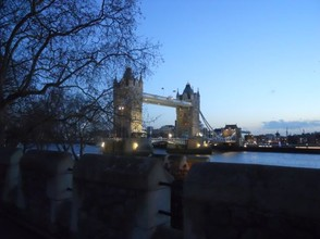 Watching the sun set over Tower Bridge.
