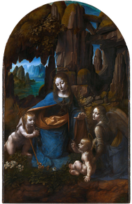 Virgin of the Rocks by Leonardo da Vinci - at the National Gallery