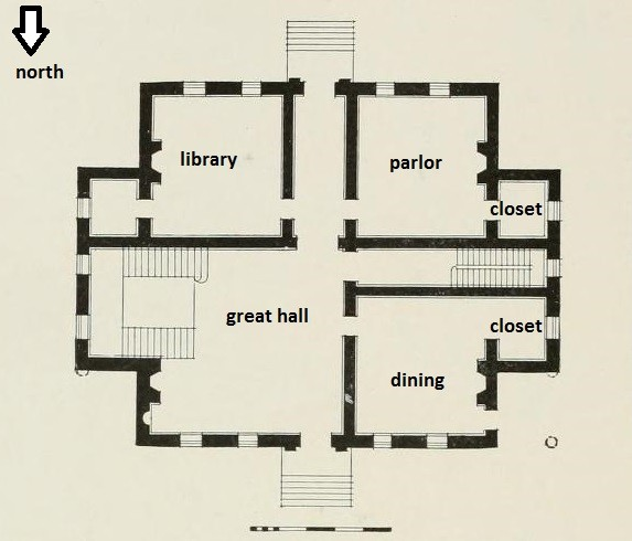 room identification by Derdriu Marriner via Claude Lanciano Jr., Rosewell Garland of Virginia (1978), p. 84