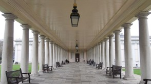 The colonnade connecting the Queen's House to the Maritime Museum.