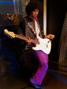 Jimi Hendrix - Wax Statue in Mdme. Taussauds, London